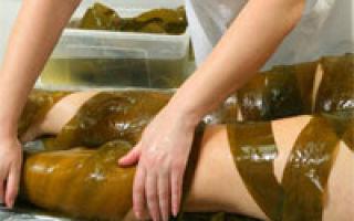 Împachetari la domiciliu cu alge marine
